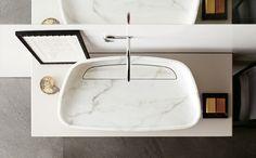 Inkstone Sink - Art Deco Contemporary Mid-Century / Modern Organic Rustic / Folk Storage - Dering Hall