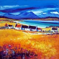 Hills of Skye from Raasay Colorbox, Vibrant Colors, Colours, Oil On Canvas, Landscape, Gallery, Painting, Art, Art Background