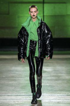 #2018 #Annakiki #Milanfashionweek #Black #PVC #DownCoat #Autumn #Winter #fashionshow #fashiontrend