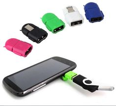 Newest Universal Android smart Phone Robot shape Micro USB To Usb Mini OTG Adapter  case for samsung galaxy S6 S7 edge note tab