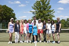 Former British No.1 Tim Henman was at Stoke Park last week, enjoying the sun here with our Ladies Tennis third team.
