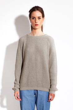 PIONE - WAFFLE KNITTED SWEATER