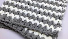 Trendy Crochet Baby Blanket + Tutorial