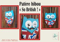 "Patère hibou ""So british""  #artdecosalamandre #patereenbois #hibou"