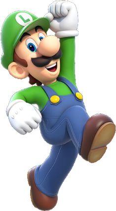 Luigi Artwork (alt) - Super Mario World