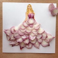 Creative Art / Funny Art ideas : Edgar Artis is an Armenian illustrator who uses a fascinating mix of paper cut outs and pencil drawings using everyday objects. Dress Illustration, Illustration Sketches, Fashion Illustrations, Funny Illustration, Arte Fashion, Paper Fashion, 3d Fashion, Art Et Design, Funny Drawings