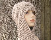 Instant Download Knitting Pattern PDF - Knitting Pattern PDF for Swirl Beanie Scarf Hat Hooded Scarf - Fall Fashion Accessories