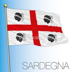 Bandiera di Sardegna, Italia — Vettoriali Stock © frizio #127244050