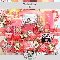 SoMaDesign Valentine Kit Digital Scrapbooking, Whimsical, How To Draw Hands, Challenges, Kit, Events, News, Shop, Design