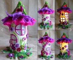 Felted Fairy House