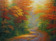 Bob Ross Spring Paintings | Charles White - Autumn Interlude