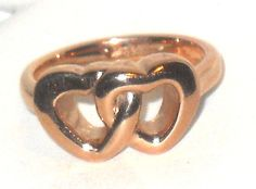 Double Heart Stainless Steel Ring 18K Rose Gold- size 7 Mother's Day    http://stores.ebay.com/JEWELRY-AND-GIFTS-BY-ALICE-AND-ANN