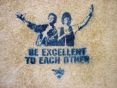 Bill and Ted graffiti