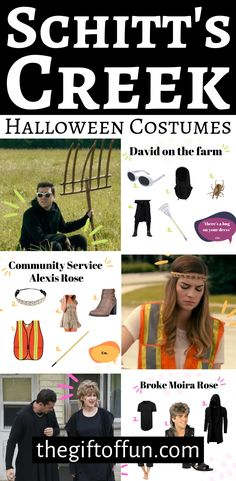 Are you a Moiria, David, Alexis or Johnny? These Schitt's Creek Halloween Costumes will leave you feeling flirty and saying Ew David. Halloween 2020, Holidays Halloween, Spooky Halloween, Halloween Ideas, Halloween Costumes, Halloween Party, Holiday Festival, Holiday Fun, Festive