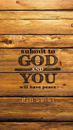 Submit to God and you will have peace. I submit all the love animals have 4 humans and 4 god to stop their suffering so the animals and humans can have peace together Bible Verses Quotes, Bible Scriptures, Scripture Treats, Job Bible, Scripture Cards, Faith Bible, Biblical Quotes, Christian Faith, Christian Quotes