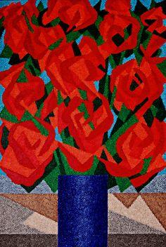 Flores, 1996 Cláudio Tozzi (Brasil, 1944) acrílica sobre tela colada em madeira, 150 x 100 cm