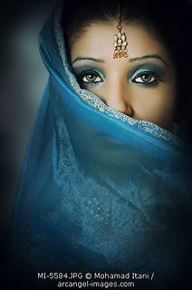 Indian woman with blue sar | Flickr - Photo Sharing!