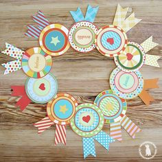 Ribbon Awards for Kids Free Printables from Handmade Home for kids free ribbon awards for kids - The Handmade Home Handmade Home, Diy And Crafts, Arts And Crafts, Paper Crafts, Diy For Kids, Crafts For Kids, Kids Awards, Candy Cards, Free Printables