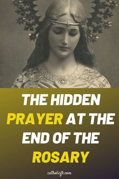 The Hidden Prayer at the End of the Hail Mary Praying The Rosary Catholic, Rosary Prayer, Catholic Prayers, Rosary Quotes, Catholic Beliefs, Catholic Saints, Roman Catholic, Prayers To Mary, Angel Prayers