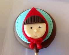 Pirulitos da Chapeuzinho Vermelho Crayon Painting, Fondant Tips, Cute Clay, Red Riding Hood, Little Red, Diy Party, Party Themes, Fairy Tales, Birthday Parties
