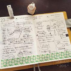 ちょっとお泊まり。 これからトラベラーズノート書くのさ! * #ほぼ日 #hobonichi #絵日記倶楽部 #楽しい手帳生活 #hobonichiplanner #スパリゾートハワイアンズ