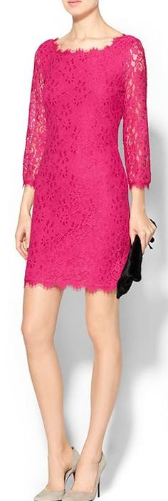 lovely pink lace dress http://rstyle.me/~45yXd