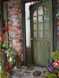 Cinderella Moments, a tiny door beckons in the cottage garden