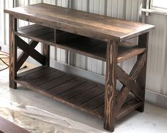 Rustic Media Console TV Stand Rustic Farmhouse Media Table Handcrafted Solid Wood Furniture C - TV Stands - Ideas of TV Stands Decor, Rustic Farmhouse Furniture, Wood Furniture Plans, Furniture Projects, Rustic Furniture, Furniture Decor, Wood Furniture, Home Furniture, Rustic Media Console