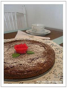 """Kladdkaka (lit. Gooey cake but more commonly known as """"chocolate mud cake"""") is a type of Swedish cake. This dense sticky chocolate cake simi..."""