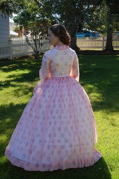 A Pink Sheer 1860s Dress at The Fashionable Past