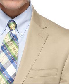 July wedding guest suit? Ralph Lauren Suit, Tan Cotton Slim Fit