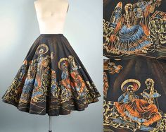 Vintage 1950s 50s LAVABLE Mexican Hand Painted by GeronimoVintage
