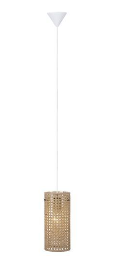 Hazienda fönsterpendel från Markslöjd. Glasskärm med bambu. 3,5m vit textilsladd med strömbrytare på sladden. Stor lamphållare (E27). Max 60W glödlampa eller motsvarande styrka i halogen, lågenergi eller LED.  #rotting #rattan #markslöjd #light #lampa #hazienda #interior #interiör #inspiration