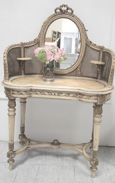 amazing shabby chic | THis piece is awesome. French Shabby Chic | vintage painted furniture