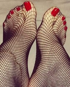 Foot fetish fishnets foto 169