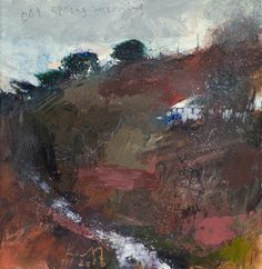 A Cornish Valley Landscape Artwork, Abstract Landscape, Abstract Art, Abstract Paintings, Kurt Jackson, St Just, Paintings I Love, Beautiful Textures, Arts And Crafts Supplies