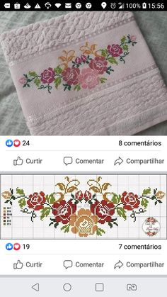 Cross Stitch Rose, Cross Stitch Flowers, Cross Stitch Embroidery, Fun Hobbies, Filet Crochet, Cross Stitch Designs, Fabric Painting, Smocking, Sewing