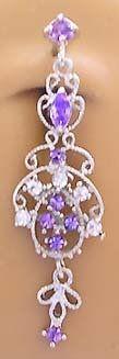 Purple Victorian Chandelier Dangle Reverse Top Mount Belly button Navel Ring 14 gauge playful piercings,http://www.amazon.com/dp/B005FU4VT6/ref=cm_sw_r_pi_dp_jed.rb0XG0WAM90C