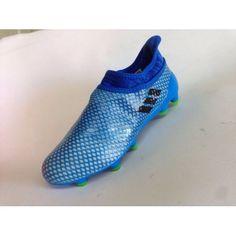 on sale e1862 fe152 Adidas Messi - Chuteira Adidas Messi 16 Pureagility FG AG Azul Verde Novo