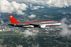 Republic Airlines, Northwest Airlines, North West, Airplanes, Transportation, Aviation, Jet, Aircraft, Military