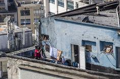 Cobertura em prédio popular no centro da cidade, vista do terraço do Edifício Martinelli