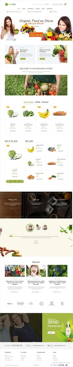 Organic is the beautiful and fully responsive #Magento template for stunning #organic #food #store eCommerce website #webdeveloper with 6 unique homepage layouts download now➩ https://themeforest.net/item/organica-organic-beauty-natural-cosmetics-food-farn-and-eco-magento-theme/18659746?ref=Datasata