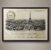 Vintage French Postcard Large - Tour Eiffel Et Ferris