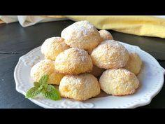 Galletas blanditas con 3 ingredientes (SIN HARINA y en solo 10 minutos) - YouTube Baking Recipes, Cookie Recipes, Dessert Recipes, Just Desserts, Delicious Desserts, Yummy Food, Biscuit Cookies, Cupcake Cookies, Coconut Cookies