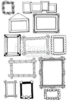 Picture frame doodles Royalty Free Stock Photo