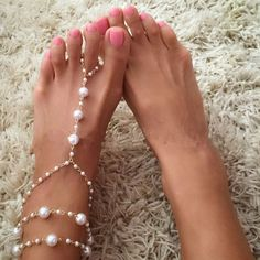 2016 Ladyfirt Chain Footless Bridal Foot Beach Wedding Simulated Pearl Barefoot Sandals Anklet Women Jewelry Female Anklets 3318