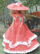 CROCHET FASHION DOLL PATTERN-ICS DESIGNS-170 TEA GOWN FROM NEW ORLEANS