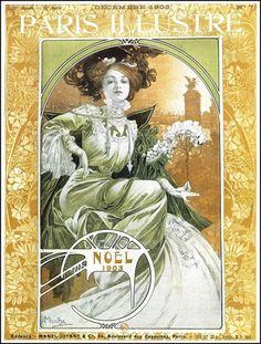 Paris Illustre, Noel 1903, by Alphonse Mucha.