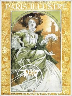Paris Illustre, Noel 1903, by Alphonse Mucha.