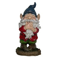 Add color, spice and life to your outdoors with these cast stone resin gnome statuaries. These sturdy statuaries boast hues of blue, green and red.